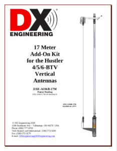 Add on kit Instruction cover sheet