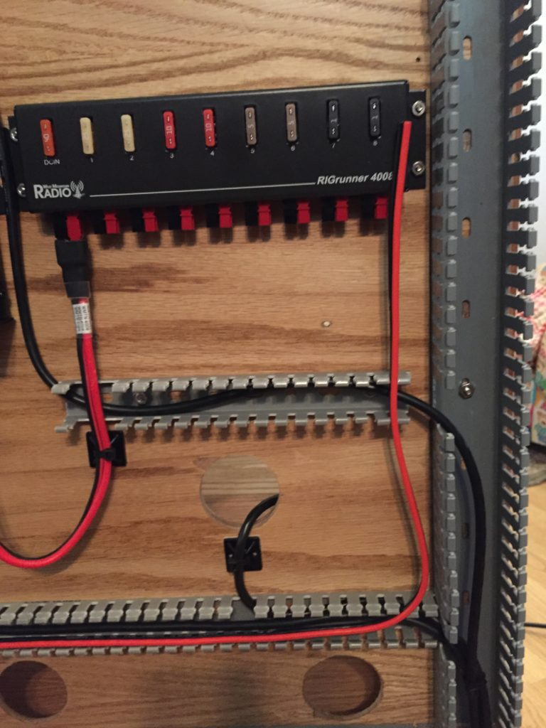 Run detail for some of the power cables.