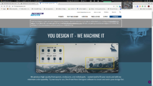 Front panel designers web page.